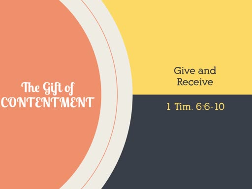 The Gift if Contentment - RCN Dec 8 2019