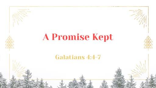 12/08/2019 A Promise Kept