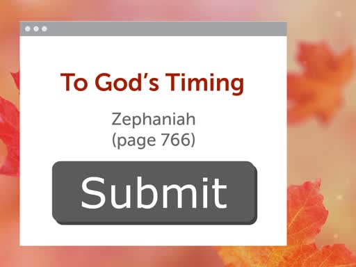 Submit to God's Timing