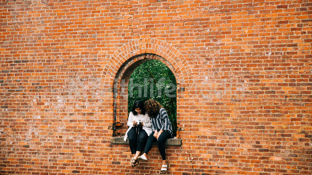 Friends Looking at a Camera large preview