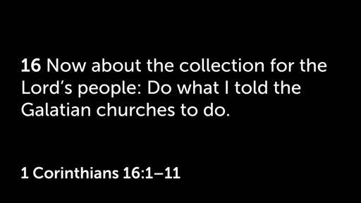 1 Corinthians 16: Partnership In God's Work