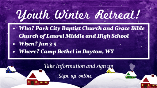 Youth Winter Retreat!