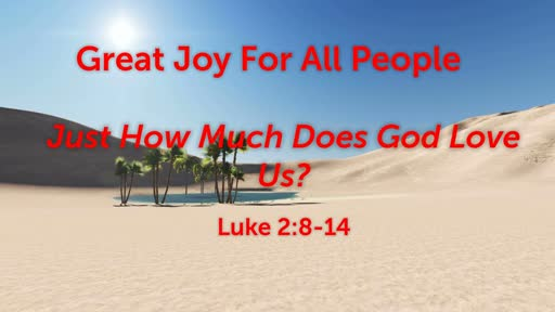 Great Joy For All People