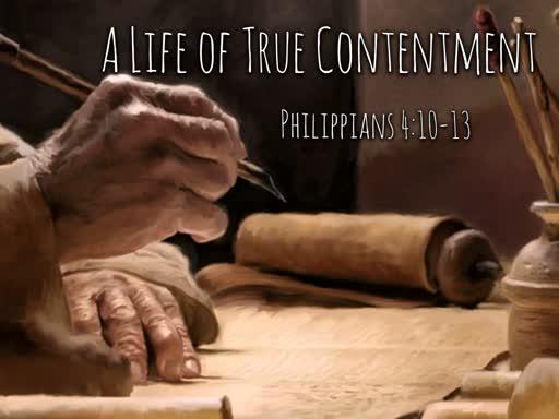 A Life of True Contentment