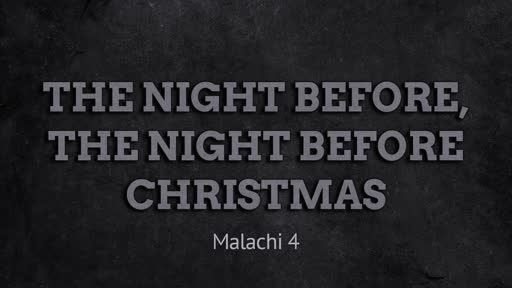The Night Before, The Night Before Christmas