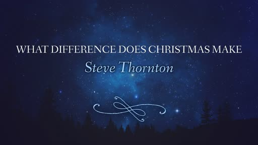 What Difference Does Christmas Make