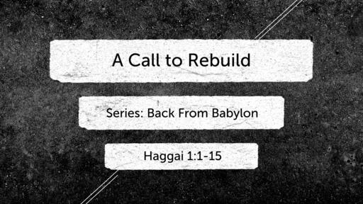 A Call to Rebuild