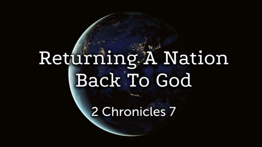 Returning A Nation Back To God
