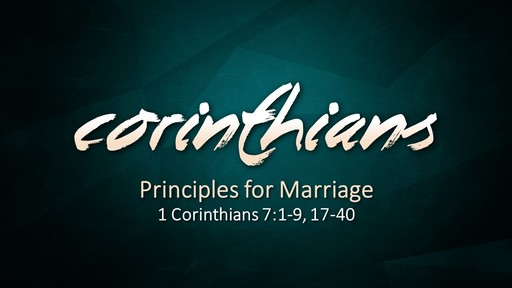 Principles For Marriage