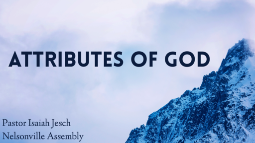 Attributes of God (2019) - Aseity