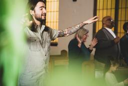 Man Worshipping on a Sunday Morning  image 2