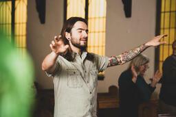Man Worshipping on a Sunday Morning  image 4