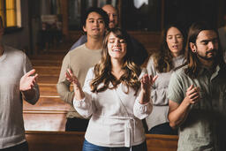 Congregation Members Worshipping on a Sunday Morning  image 2