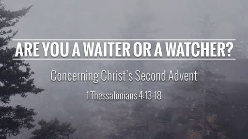 Are You A Waiter or A Watcher?