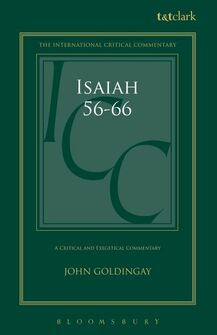 Isaiah 56–66 (International Critical Commentary | ICC)