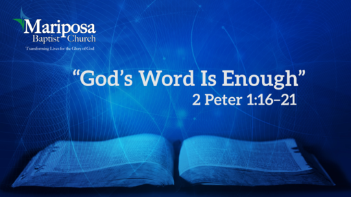 """""""God's Word Is Enough"""" 