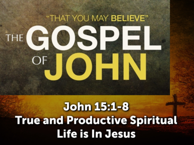 True and Productive Spiritual Life is In Jesus
