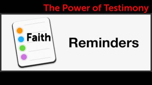 The Power of Testimony 01/05/2020