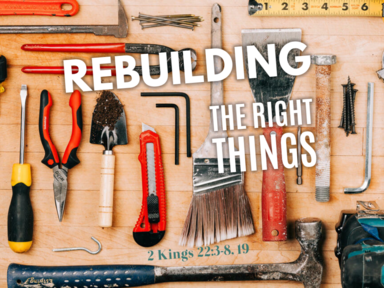Rebuilding The Right Things