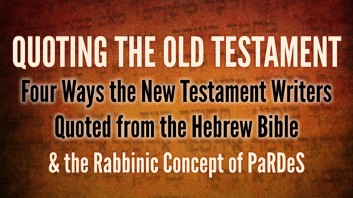2020-01-08 Wed (TM) - Life of Christ: #14 - Quoting the Old Testament