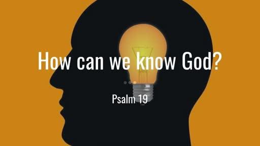 12 January 2020 AM - Psalm 19
