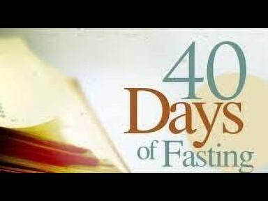 New Year's 40 days Prayer & Fast