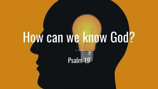 12 January 2020 PM - Psalm 19