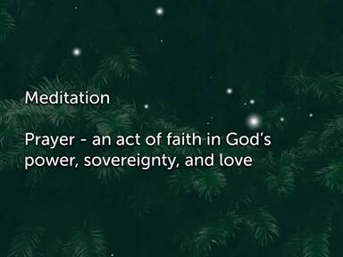Prayer Meditations