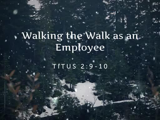 Walking the Walk as an Employee