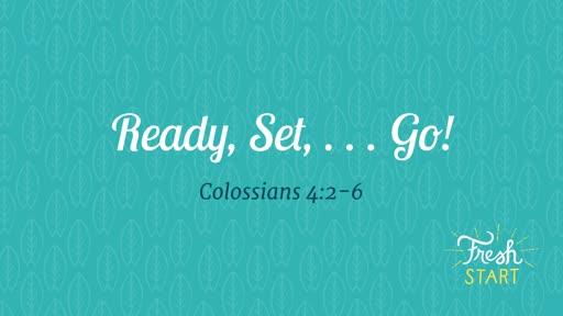 Ready, Set, ... Go! - 01.12.20 AM