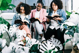 Young Women Reading the Bible Together  image 2