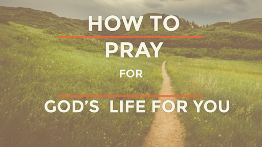 How to pray for God's life for you