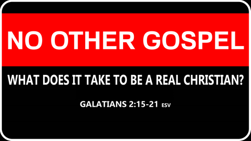 NO OTHER GOSPEL: What Does It Take to be a Real Christian