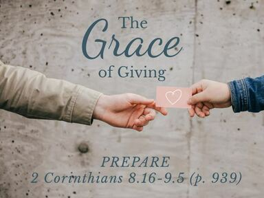 The Grace of Giving