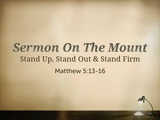 Stand Up, Stand Out & Stand Firm