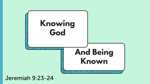 Know God Deeply, Follow God Boldly