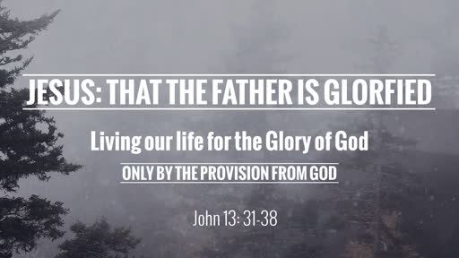 Jesus: That The Father Is Glorified