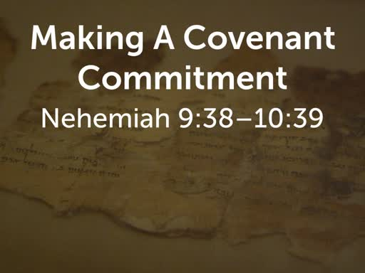 Making A Covenant Commitment