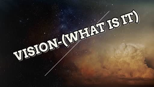 Vision-(What is it)