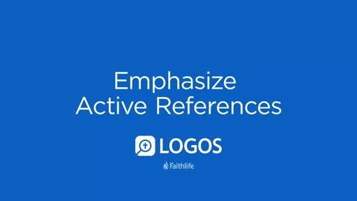 Emphasize Active References