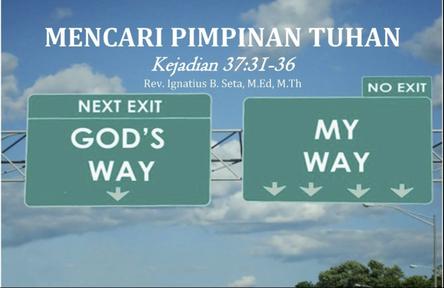 20200112 - Knowing God - Mencari pimpinan Tuhan
