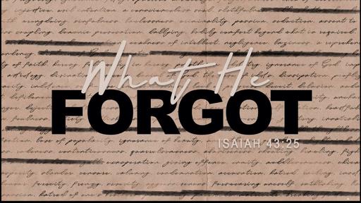 When He Forgot