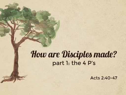 How are Disciples made? (pt.1)