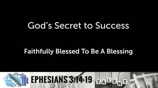 God's Secret to Success