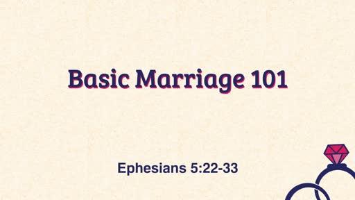 Basic Marriage 101