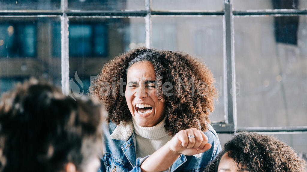 Young Person Laughing with Friends large preview