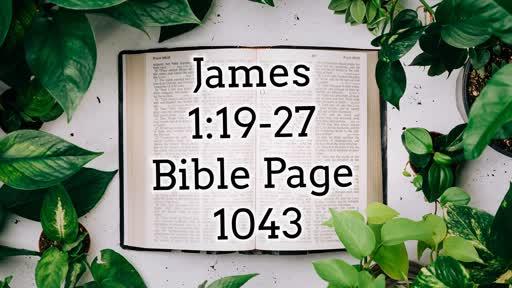 'Real Faith Obeys God's Word'  James 1:19-27