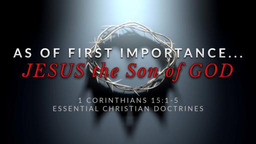 4. JESUS CHRIST the Son of God