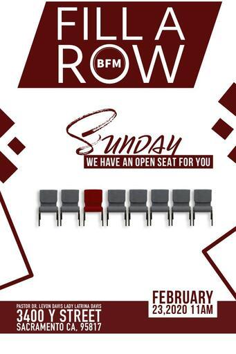 Fill A Row Flyer