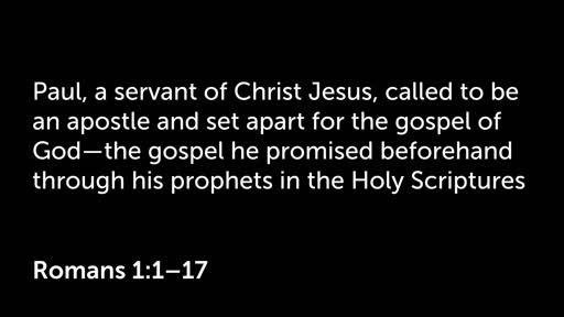 2 February 2020 AM - Roman's 1:1-17